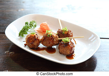 meatball with japanese sauce