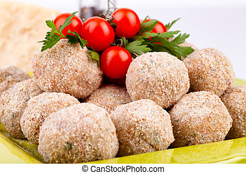 Meatballs And Cherry Tomatoes