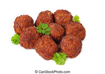 Meatballs - meatballs with parsley.