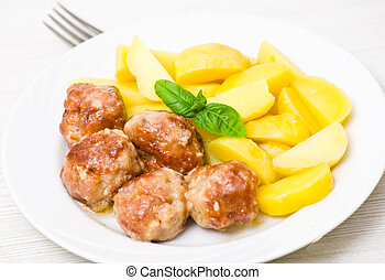 meatballs with potato