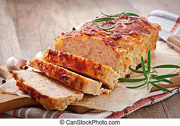 meatloaf, caseiro, chão