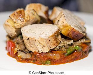 Meats - Guinea Fowl Ballotine - Fine Dining - Roasted...
