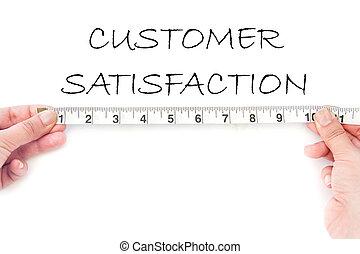 Meausuring customer satisfaction - Tape measuring the ...