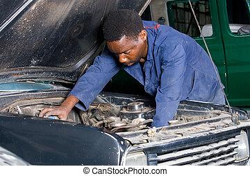 mecánico, americano africano