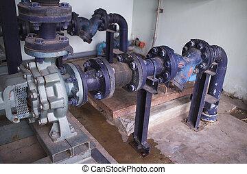 mecánico, bomba de agua