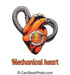mecánico, corazón, sin, un, plano de fondo