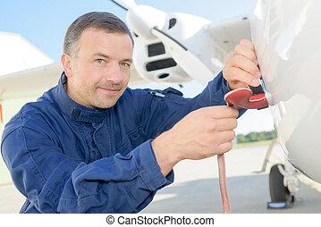 mecánico de aviones, luego