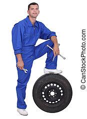 mecánico del coche, hombre