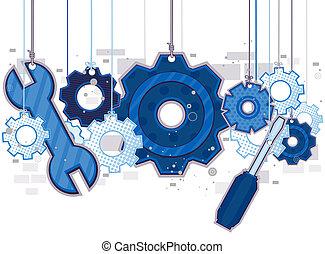 mecánico, objetos