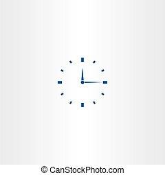 mecánico, vector, icono, reloj