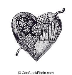 mecânico, coração