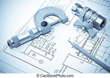 mecanica, ferramentas, plano