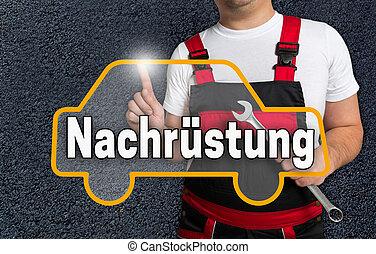 mecanica, touchscreen, carro alemão, nachruestung, operado,...