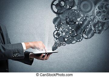 mecanismo, de, a, negócio, teia