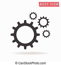 mecanismo, vector., ícone