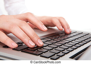 mecanografía, manos