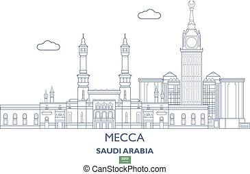 Mecca City Skyline, Saudi Arabia