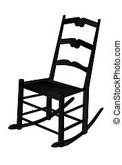 mecedor, vector, silla, ilustración