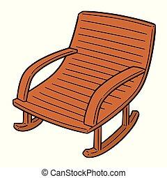 mecedor, vector, silla