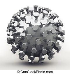 Mecha Ball, Bolts in Fibonacci / Golden Ratio Pattern -...
