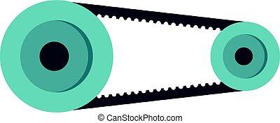 Mechanic belt icon isolated - Mechanic belt icon flat...