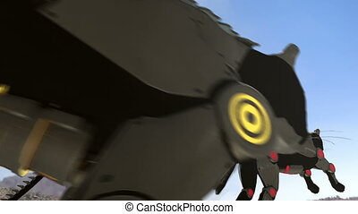 Mechanic black cats - 24 fps - A 3D animation of black...
