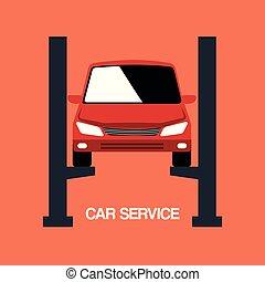mechanic car service icons