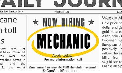 Mechanic career opportunity