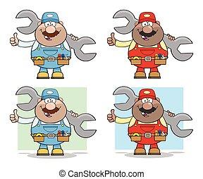 Mechanic Cartoon Character Collection - 2