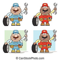 Mechanic Cartoon Character Collection -3