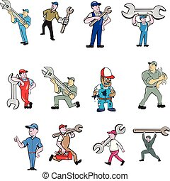 mechanic-cartoon-set-01