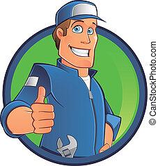 mechanic - Cartoon mechanic