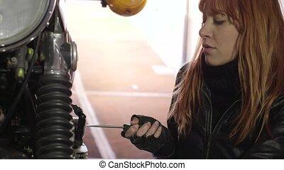 Mechanic Girl Woman Repair Engine