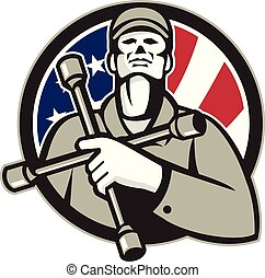 mechanic-hold-tire-wrench-on-chest-usa-flag-circ