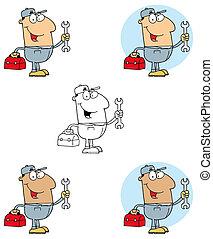 Mechanic Man With Tool Box