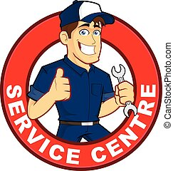 Mechanic Service Centre - Clipart picture of a mechanic...