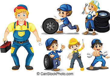 Mechanic set - Illustraion of a set of mechanic with tools