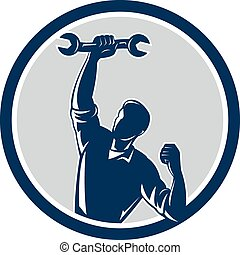 Mechanic Spanner Wrench Fist Pump Circle