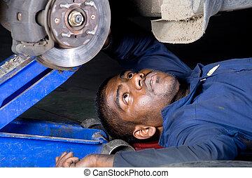 mechanic under vehichle