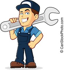 Mechanic - Vector clipart picture of a male mechanic cartoon...