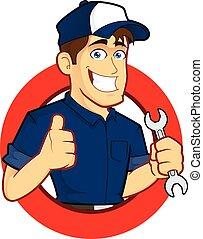 Mechanic with Circle Shape