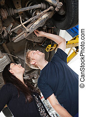 Mechanic with Female Customer