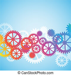 A Mechanical Vector Background with Gears and Cogs