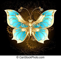 Mechanical Butterfly - mechanical butterfly brass and gold...