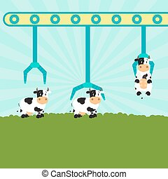 Mechanical cattle and farm
