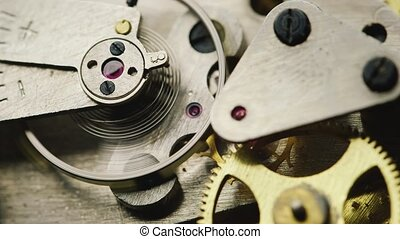 Mechanical Components works. gears rotate - Mechanical...