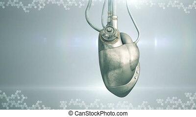 Mechanical cyberpunk heart