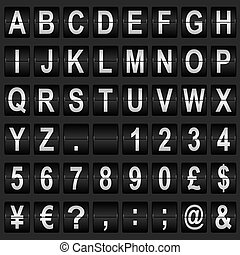 Mechanical Display Font