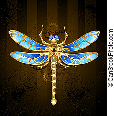 Mechanical Dragonfly - mechanical dragonfly brass and gold...