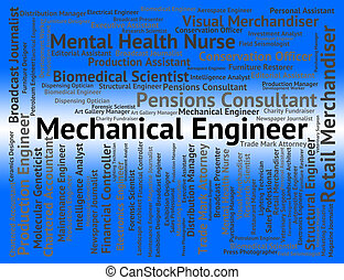 Mechanical Engineer Represents Position Recruitment And Engineering